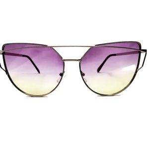 Women's Fashion Sunglasses - Lavender and Yellow